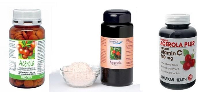 Acerola tabletki, sok i proszek