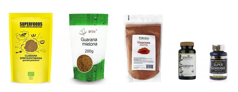 Guarana - najpopularniejsze produkty